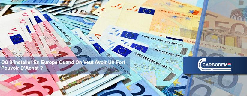 Un fort pouvoir d'achat, En Europe