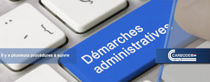 Les démarches administratives